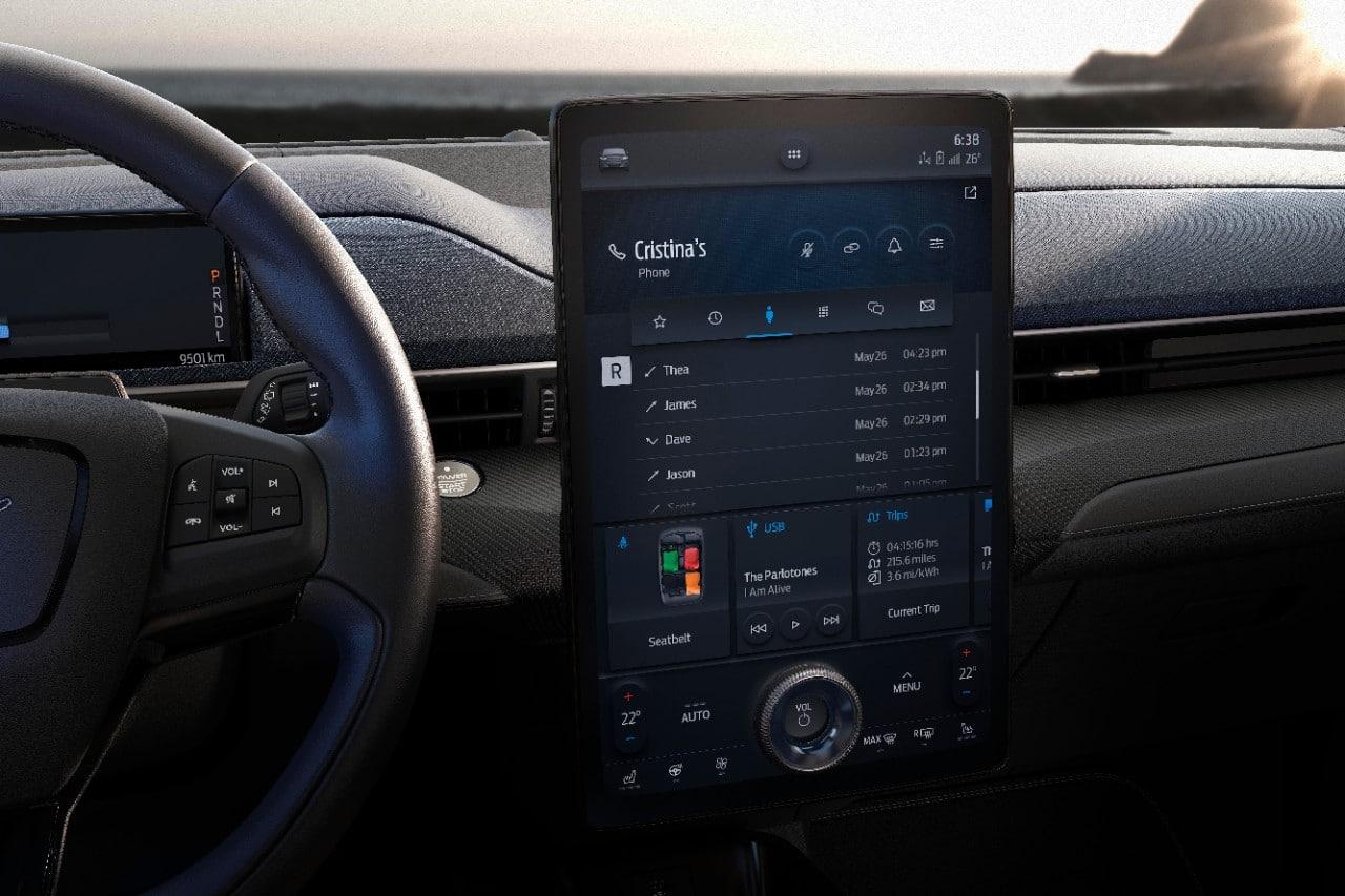 2021 All Electric Mustang Mach E Touchscreen