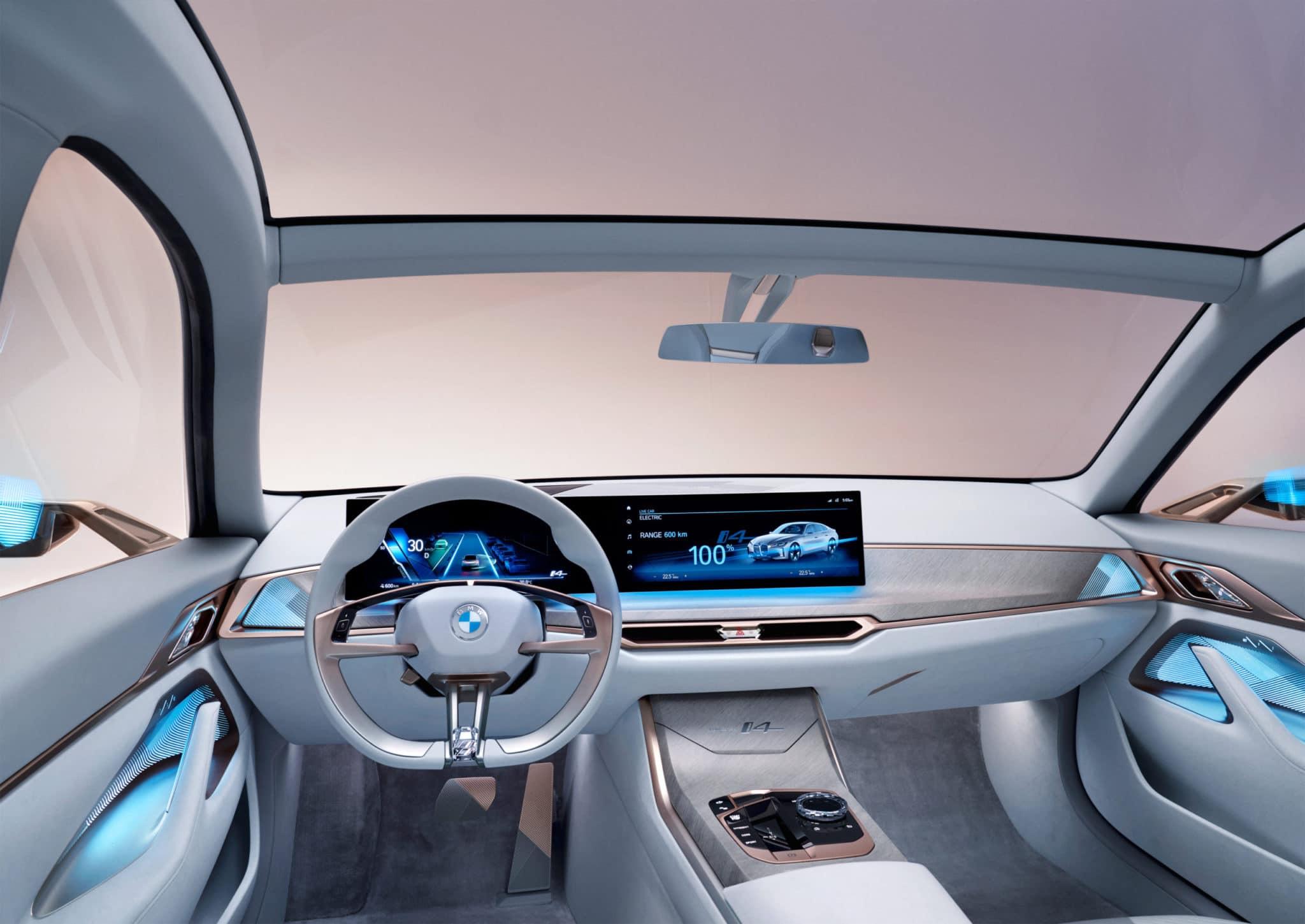2021 BMW i4 Interior Dash Concept Design