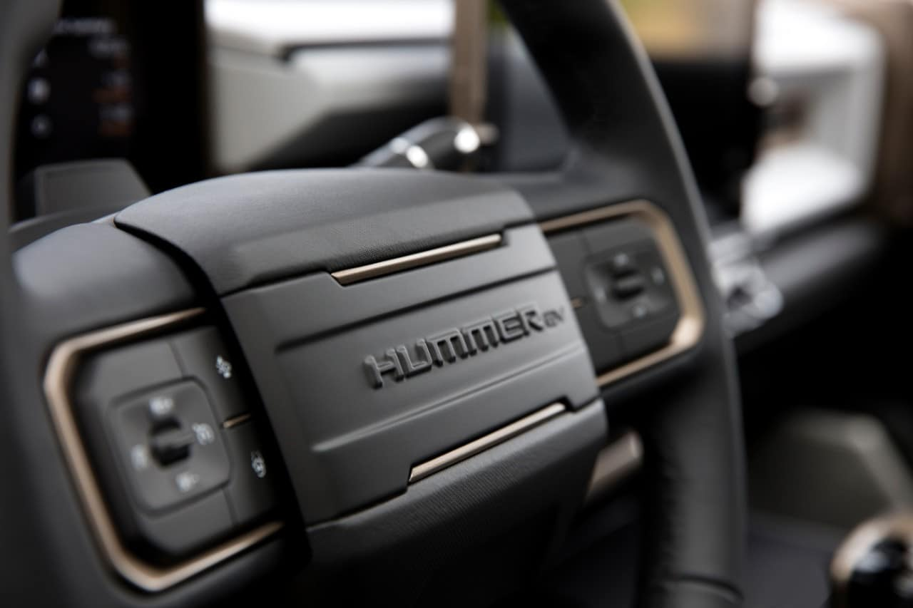 GMC Hummer EV Steering Wheel Design