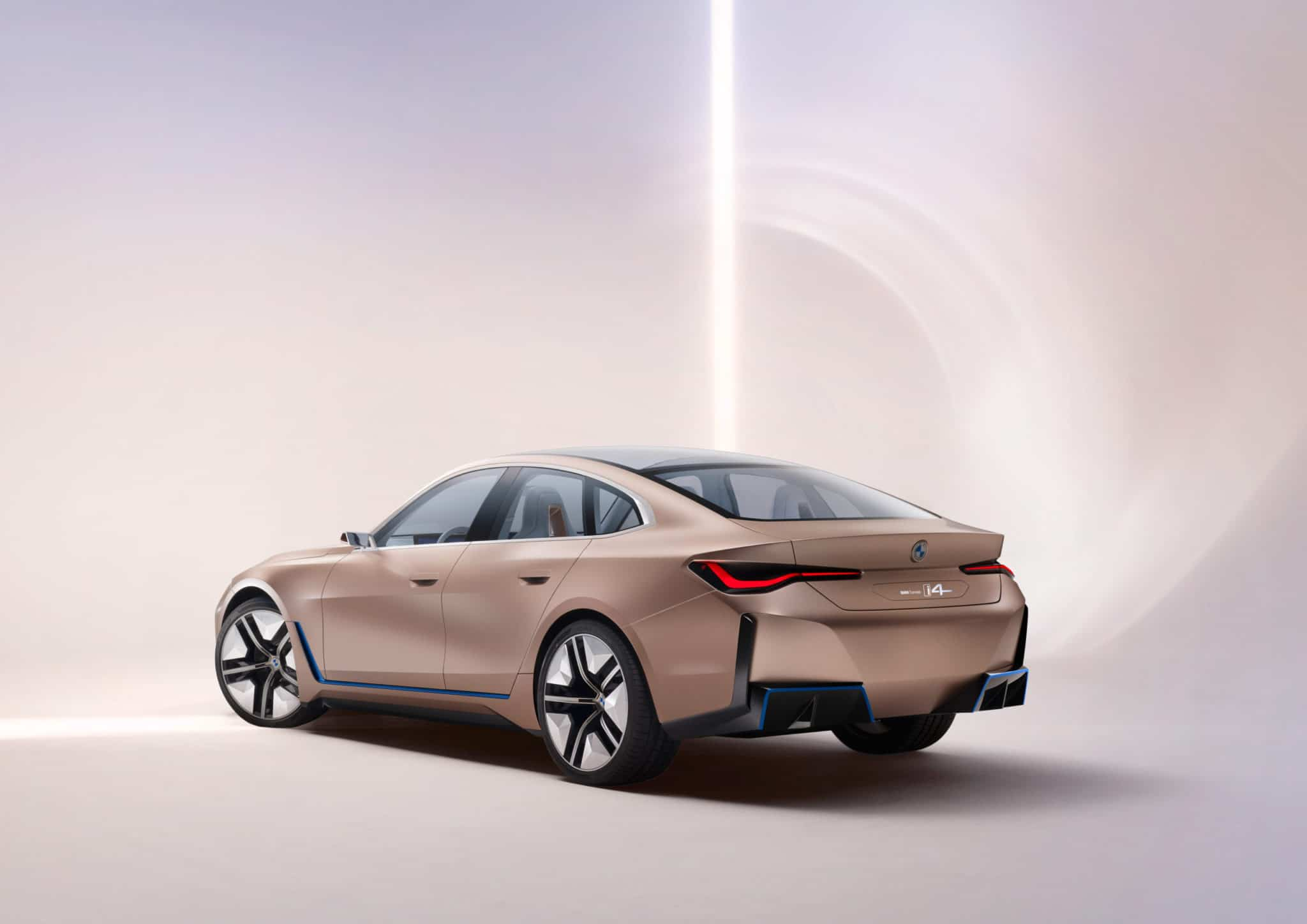Side View of 2021 BMW i4 Electric Car