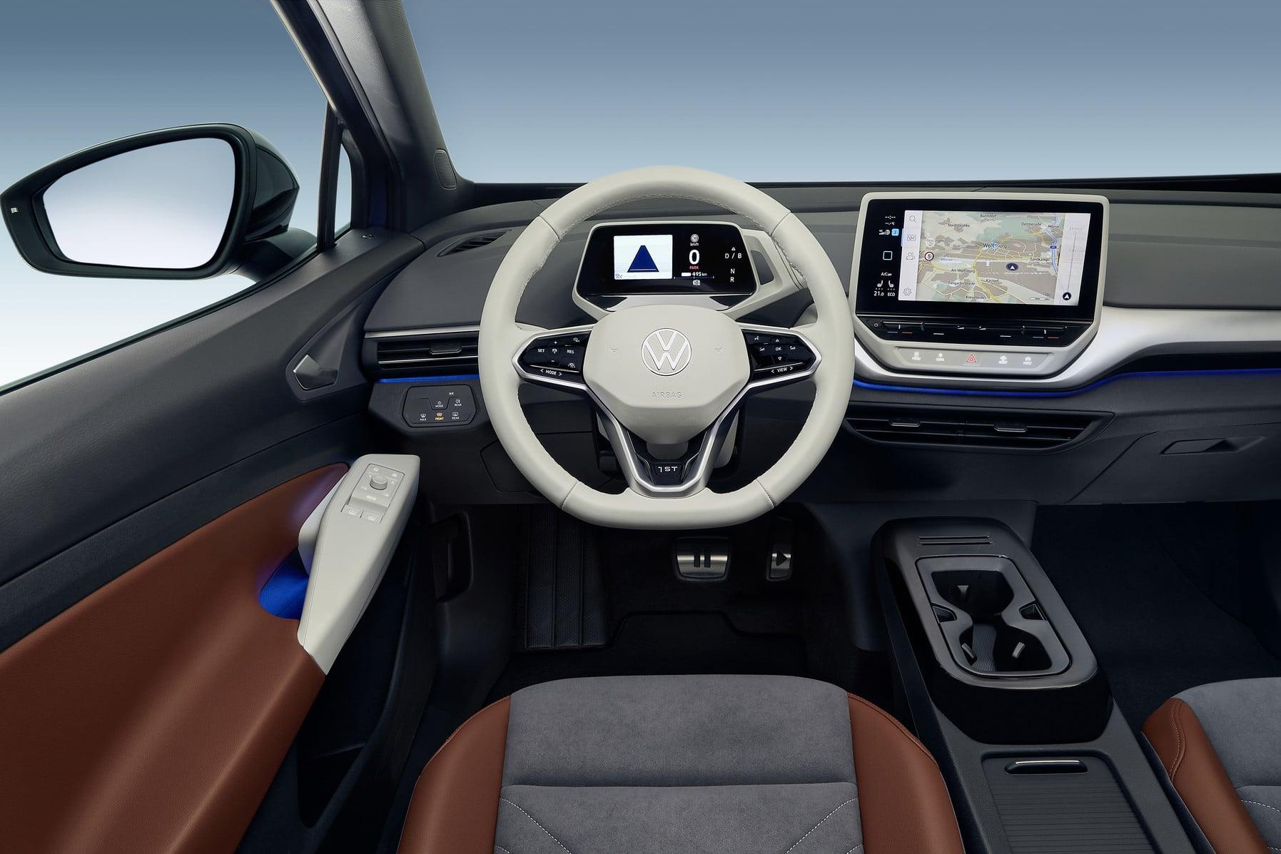 Steering Wheel Console of The New Volkswagen ID.4