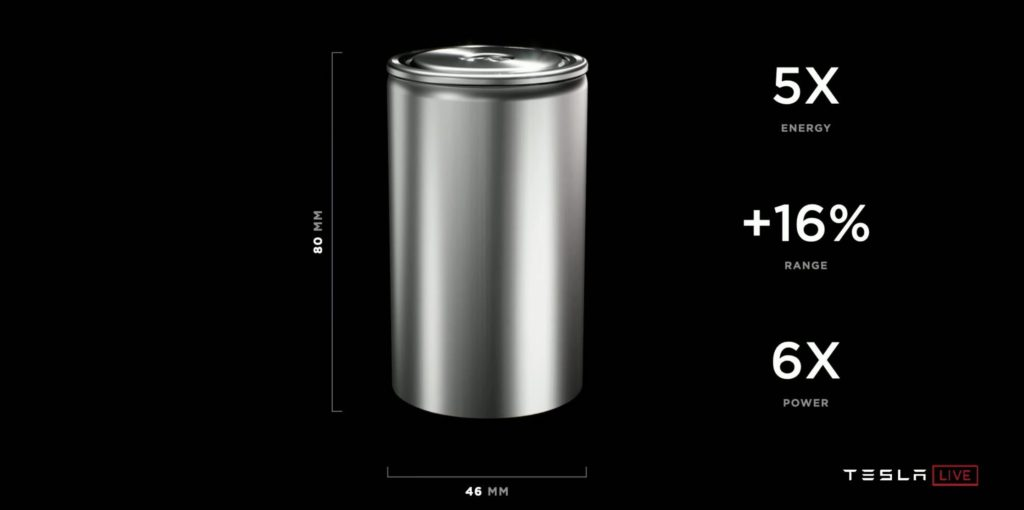 Tabless Design Tesla Battery