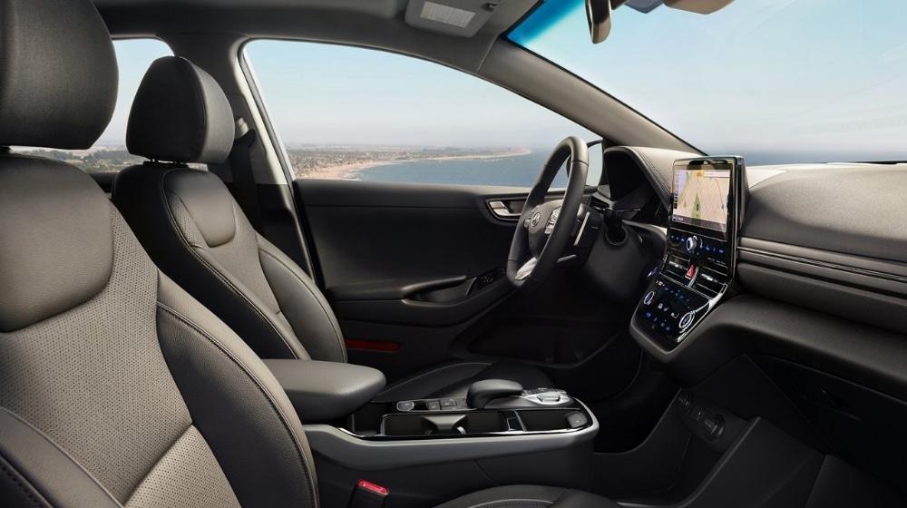 2021 Hyundai IONIQ Black Leather Seats Interior Design