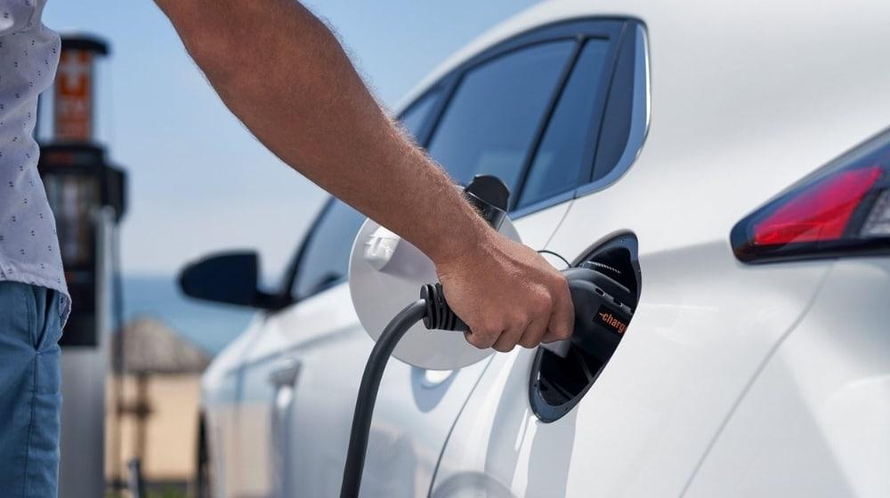 Charging Hyundai IONIQ Electric Car Battery