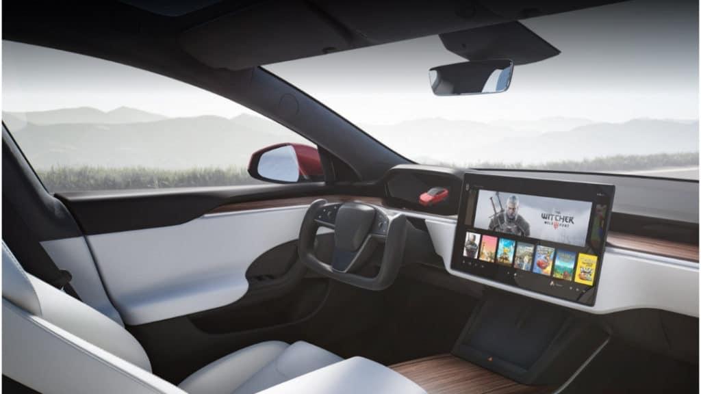 Refreshed Tesla Model S Plaid Interior