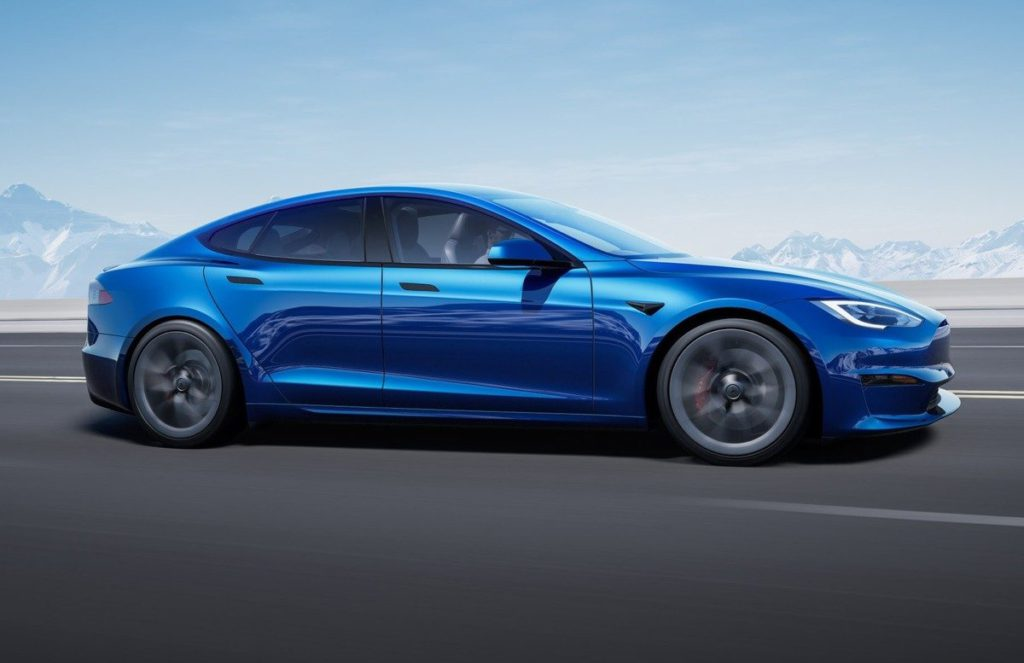 Tesla Model S Plaid Blue Exterior