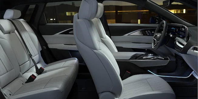 cadillac lyriq gallery interior passenger seats