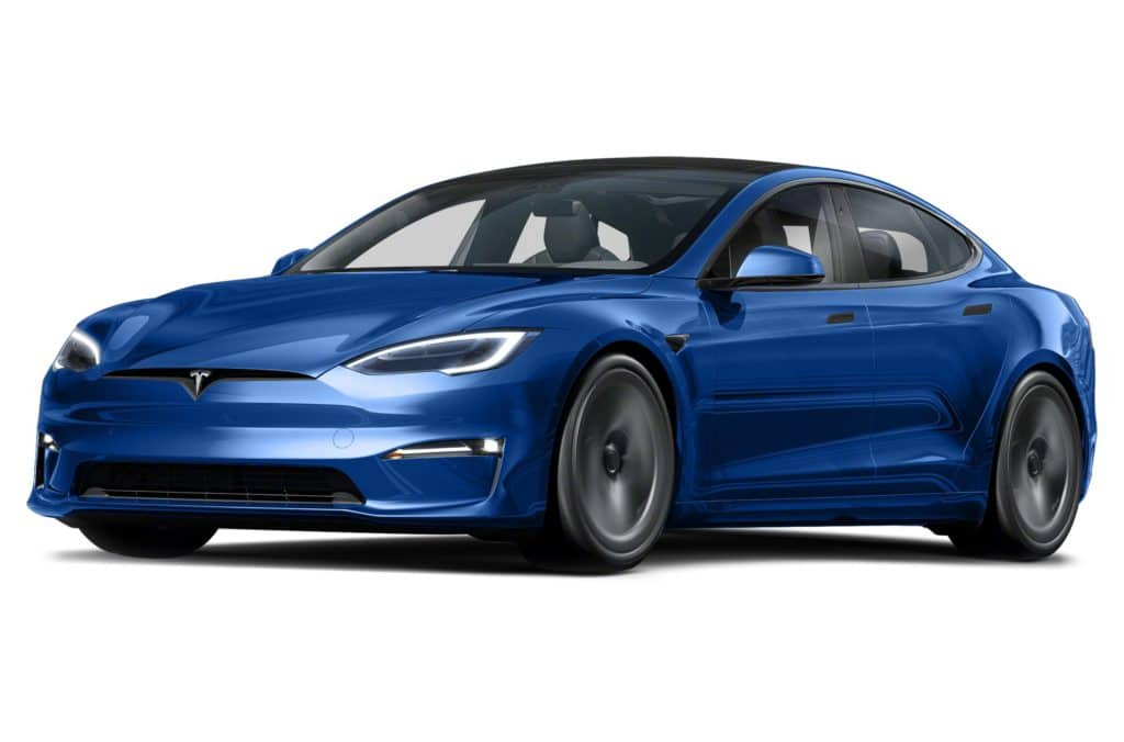 Blue Tesla Model S Plaid